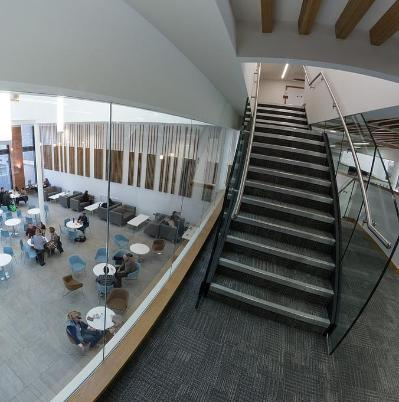 School of law foyer over Junction